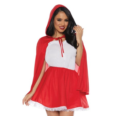 Little Red Riding Hood Womens Adult Halloween Costume Skirt Set