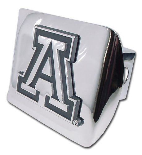 "University of Arizona ""Polished Chrome"" Trailer Hitch Cover"