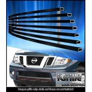 Fit 05-16 Nissan Frontier/05-07 Pathfinder Bumper Black Stainless Billet Grille