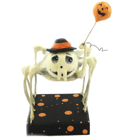 Halloween SKELETON SPIDER. Paper Mache Bethany Lowe Designs Primitive GB0133