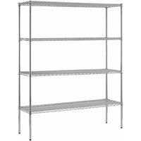"Muscle Rack60""W x 86""H x 18""D 4-Shelf Steel Shelving Unit in Chrome"