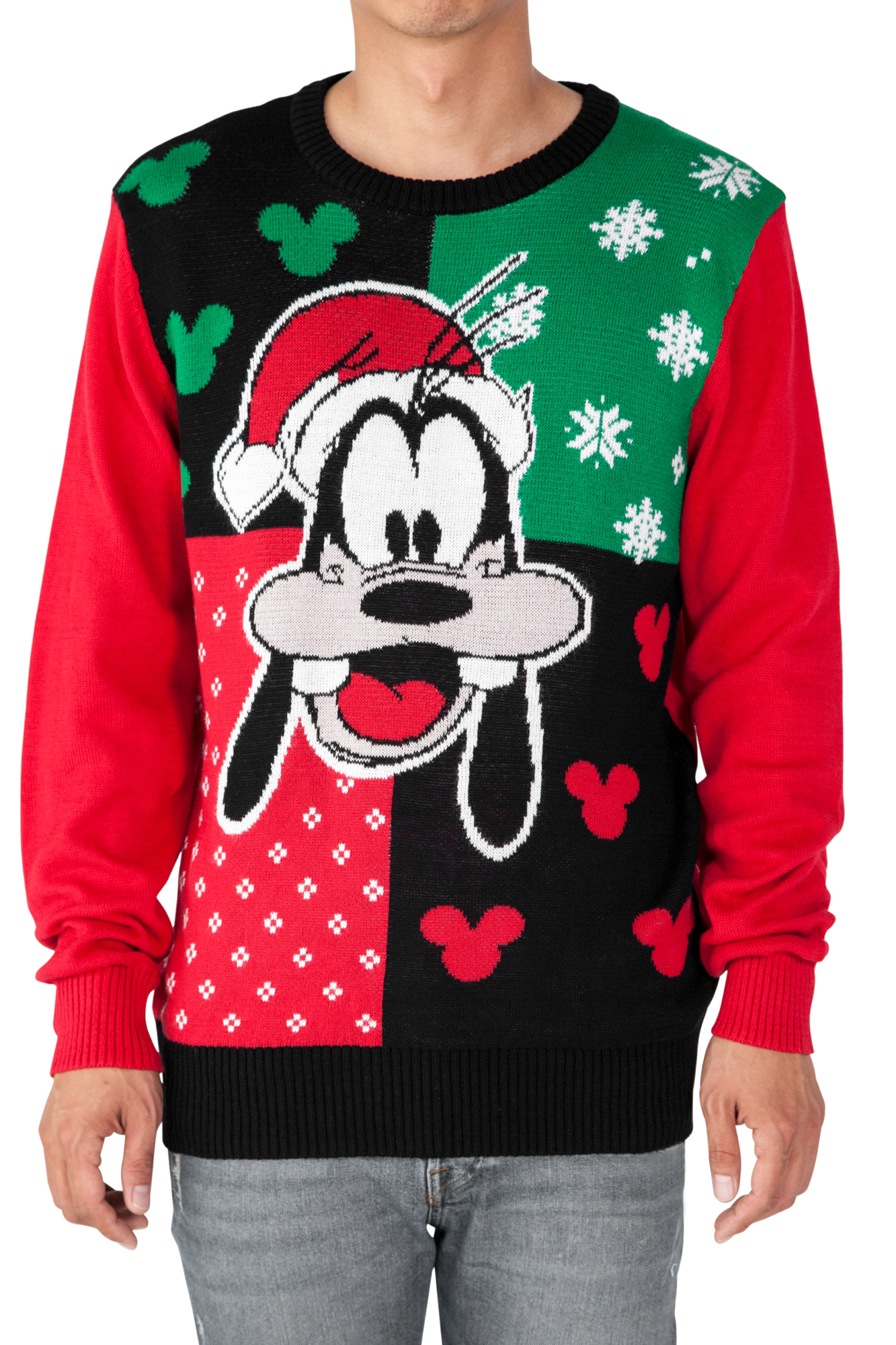 Disney Goofy Santa Men's Ugly Christmas Sweater