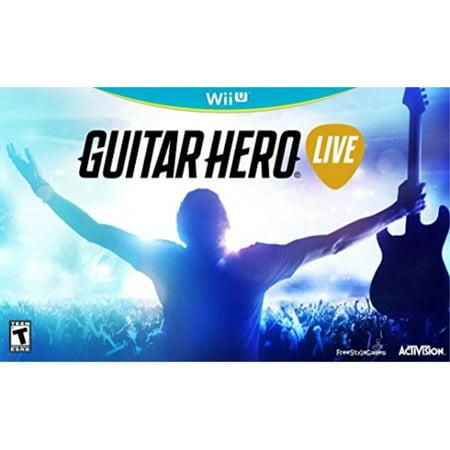 Wii Yellow Guitar (guitar hero live - wii u )