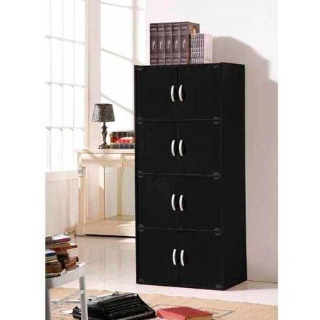 Hodedah 4-Shelf, 8-Door Multipurpose Cabinet, Multiple Colors Standard Four Door Tall Cabinet