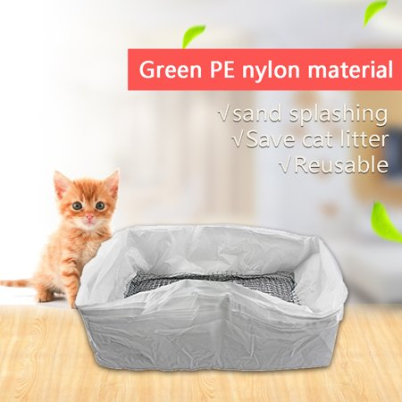 10pcs/lot Cat Litter Tray Liners Reusable Kitten Hygienic Litter Box Scoop Liners Hands Free Elastic Cats Sifting Feces