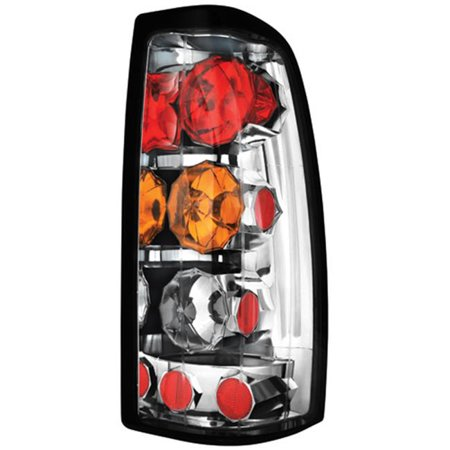 IPCW CWT-CE3039CA Chevrolet Silverado 1999 - 2002 Tail Lamps, Crystal Eyes Clear, Amber & Red ()