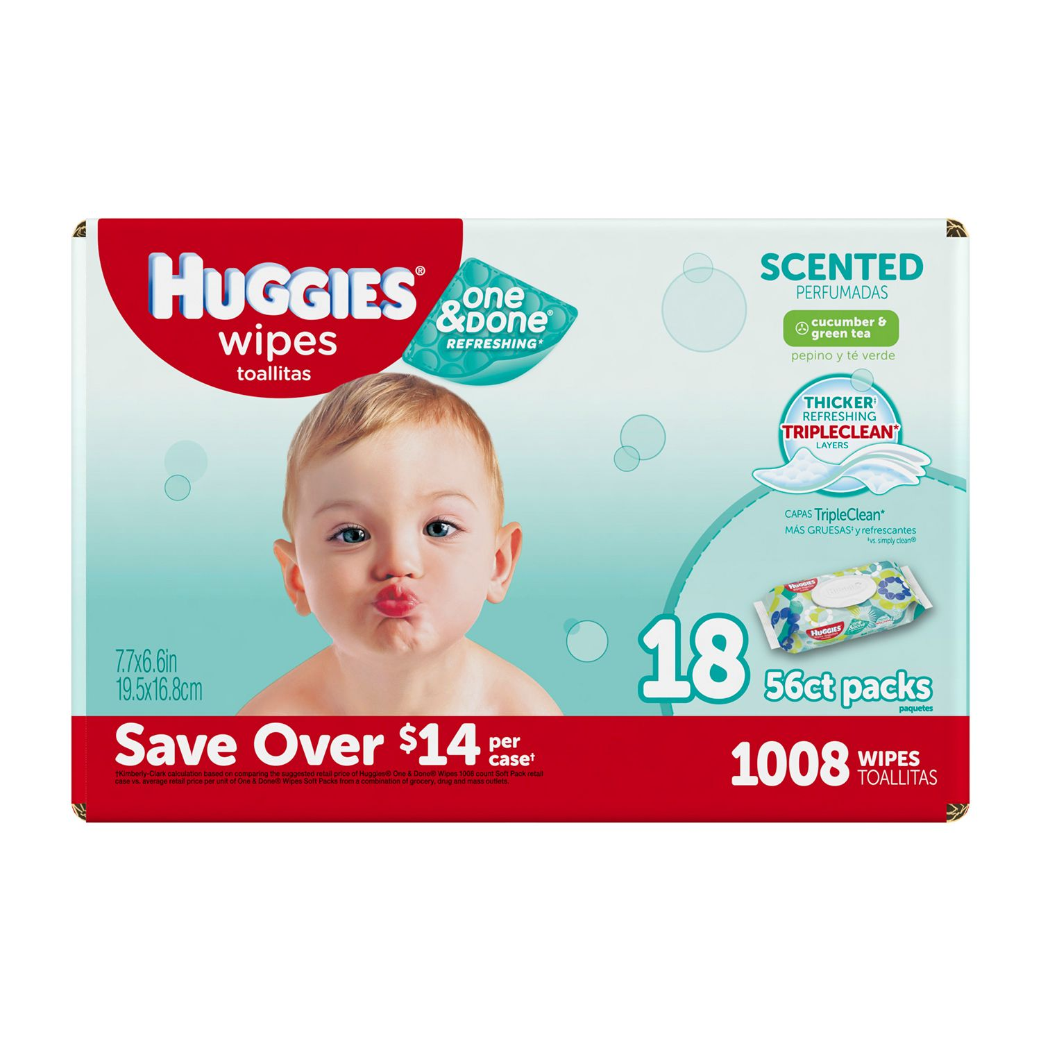 Huggies One & Done Refreshing Baby Wipes, Scented (1,008 ct.) by