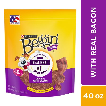 Purina Beggin' Strips Dog Training Treats; Original With Bacon - 40 oz.
