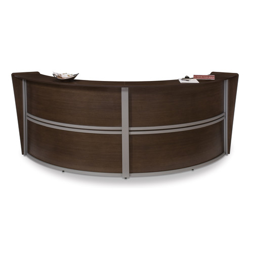 Ofm Marque Series Double Unit Curved Reception Station