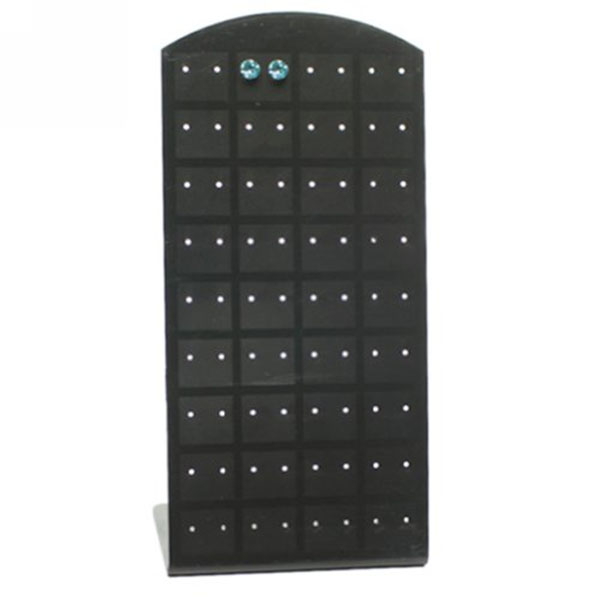 72 Holes Earring Holder Ear Stud Jewelry Stand Display Stand Showcase (Black)