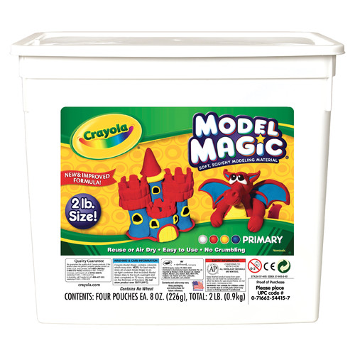 Crayola Model Magic in Primary Colors, 2-Pound Tub