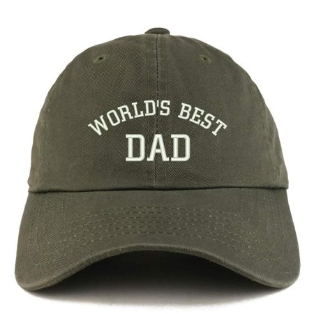 fb57f6dd5 Trendy Apparel Shop World's Best Dad Embroidered Low Profile Soft Cotton  Dad Hat Cap - Grey
