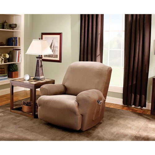 Sure Fit Stretch Stripe Recliner Slipcover  sc 1 st  Walmart & Recliner Slipcovers islam-shia.org