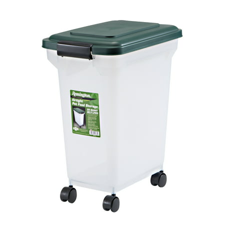 Remington® 22lb Airtight Dog Food Container with Wheels, Green