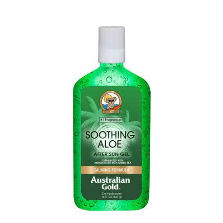 Australian Gold Soothing Aloe After Sun Gel w/ Green Tea, Calming Formula, 18 FL