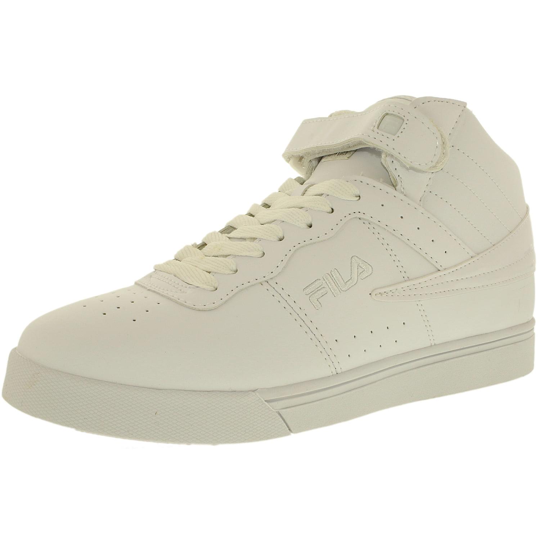 Fila Men's Vulc 13 White Metallic Silver Pewter Ankle-High Leather Fashion Sneaker 9M by Fila