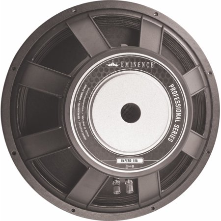 High power driver recommended for pro audio in vented enclosures. Suited for full-range three-way boxes, bass guitar boxes, & small subwoofers.