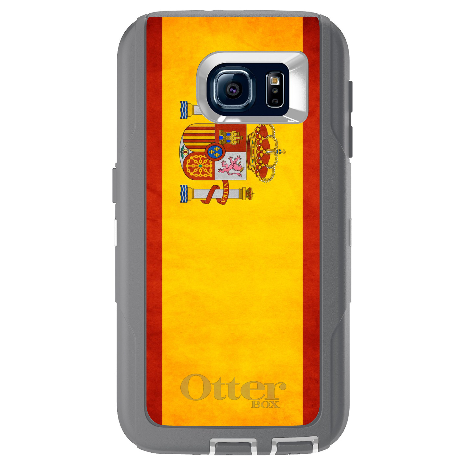 DistinctInk Custom Grey OtterBox Defender Series Case for Samsung Galaxy S6...