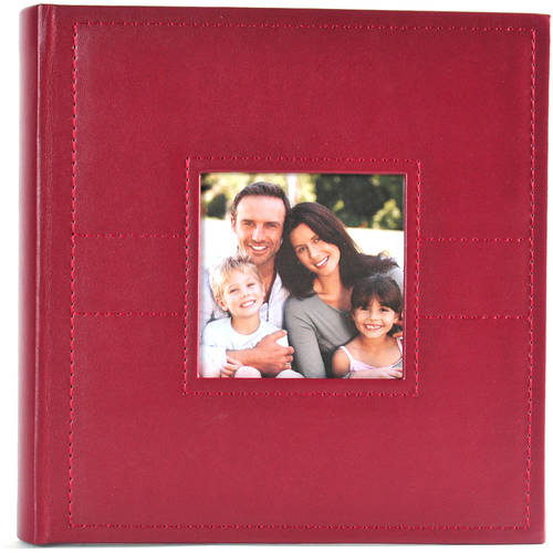 Pinnacle Frames and Accents 2-Up Red Photo Album