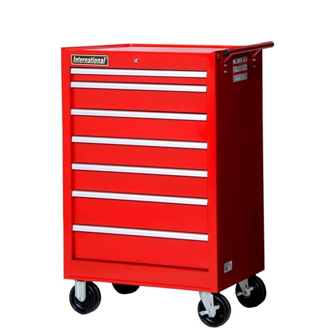 "27"" x 44"" 7-Drawer Cabinet, Red"