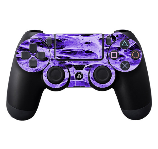 Skins Decals For Ps4 Playstation 4 Controller / Neurons Purple Web Skin Weird