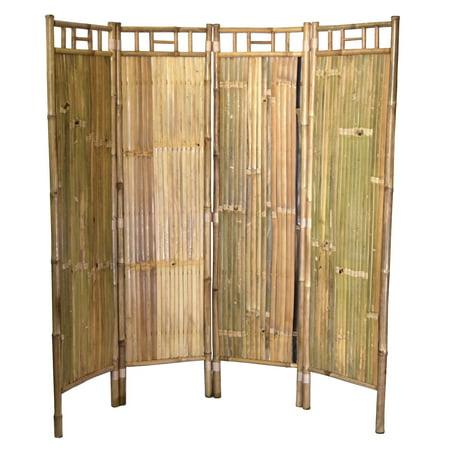 Bamboo54 Bamboo Screen 4-Panel Room Divider Bamboo 54 Natural Bamboo