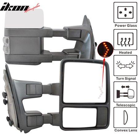 Fits 03-07 F250 Rear View Mirror Power Heated Turn Signal Arrow Light Chrome