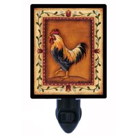 Night Light, Photo Night Light, Black Rooster, Country, Chicken plus FREE Switchable Insert