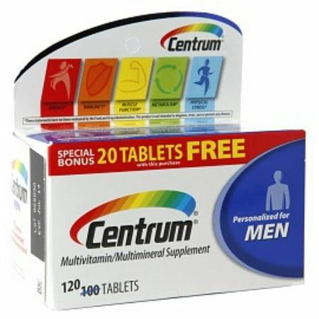 Centrum hombres menores de 50 multivitaminas Tablets 120 ea (Pack de 2)