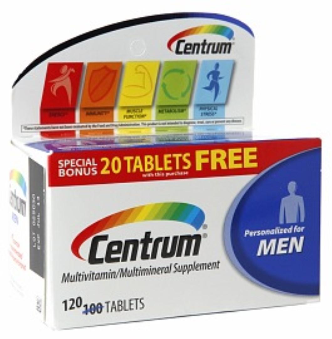 Centrum Men Under 50, Multivitamin, Tablets 120 ea (Pack of 3)
