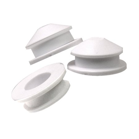 National Artcraft White PVC Plug fits 3/4 Inch Hole For Coin Banks or Salt Shakers (Pkg/100)