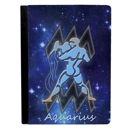 Aquarius Horoscope Astrological Zodiac Sign Apple iPad Pro 9.7 Inch Leather Flip Tablet Case