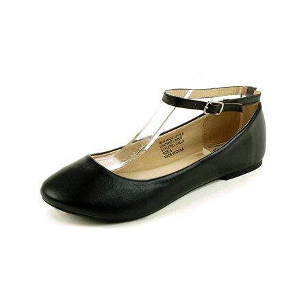 AlpineSwiss Calla Womens Ballet Flats Ankle Strap Shoe Classic Ballerina Slipper (Ballet Flats Slippers)