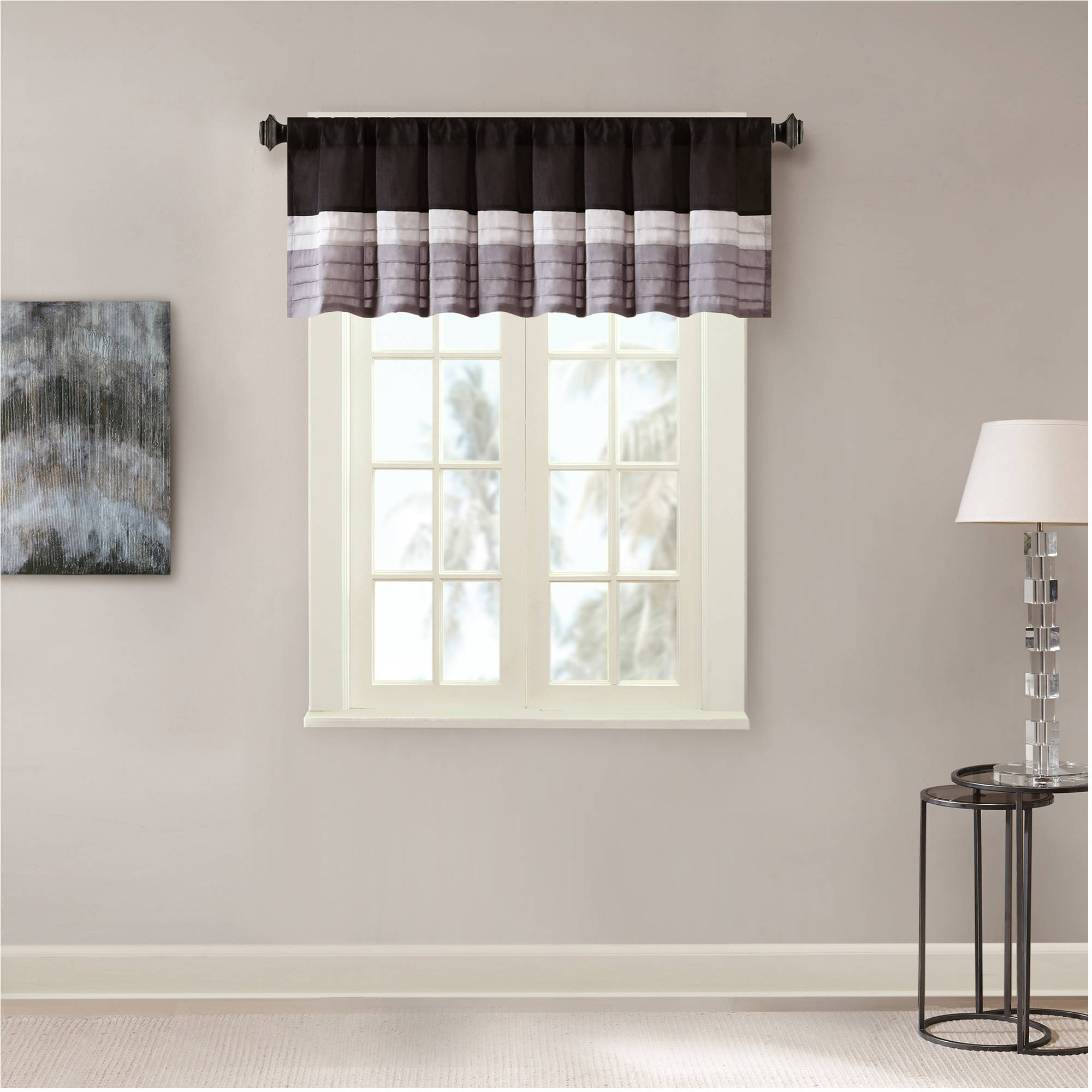 Home Essence Salem Polyoni Pintuck Window Valance