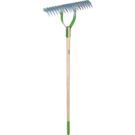 "Ames 2915100 5.13"" x 14.25"" x 61.5"" Adjustable Thatch Rake"
