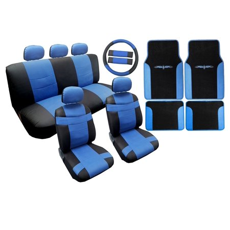 Two Tone Premium Synthetic Pu Faux Leathg Tribal Floor Mats 18Pc For Honda Civic