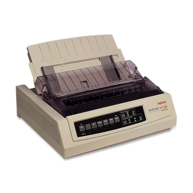 Oki MICROLINE 320 Turbo Dot Matrix Printer - 9-pin - 435 cps Mono - 240 x 216 dpi - Parallel, USB