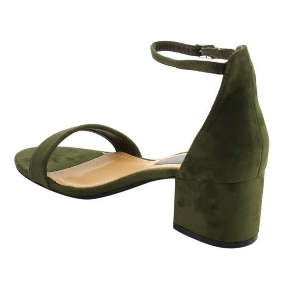 03e0079bba4 Beston FH76 Women Single Band Ankle Strap Chunky Heel Dress Sandal Half  Size Big - Walmart.com