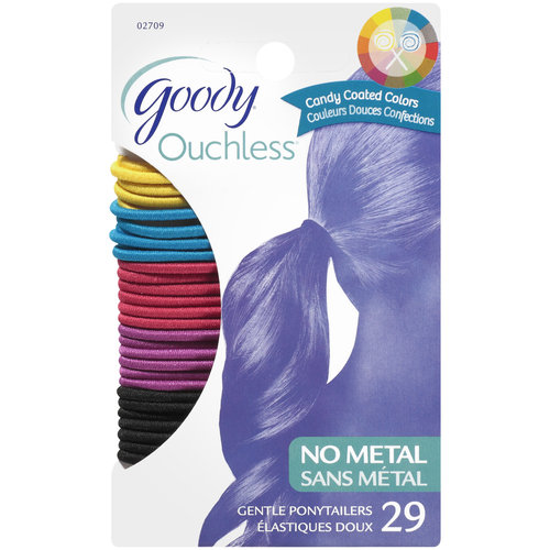 Goody Ouchless No Metal Gentle Candy Coated Colors Ponytailers, 1 st