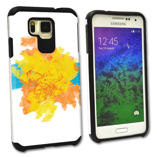 MightySkins Protective Bumper Case Cover for Samsung Galaxy Alpha hybrid tpu rubber plastic Abstract Strokes