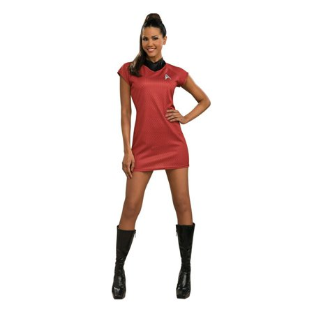 Halloween Star Trek Movie Deluxe Red Dress Adult - Fantasia Halloween Feminina