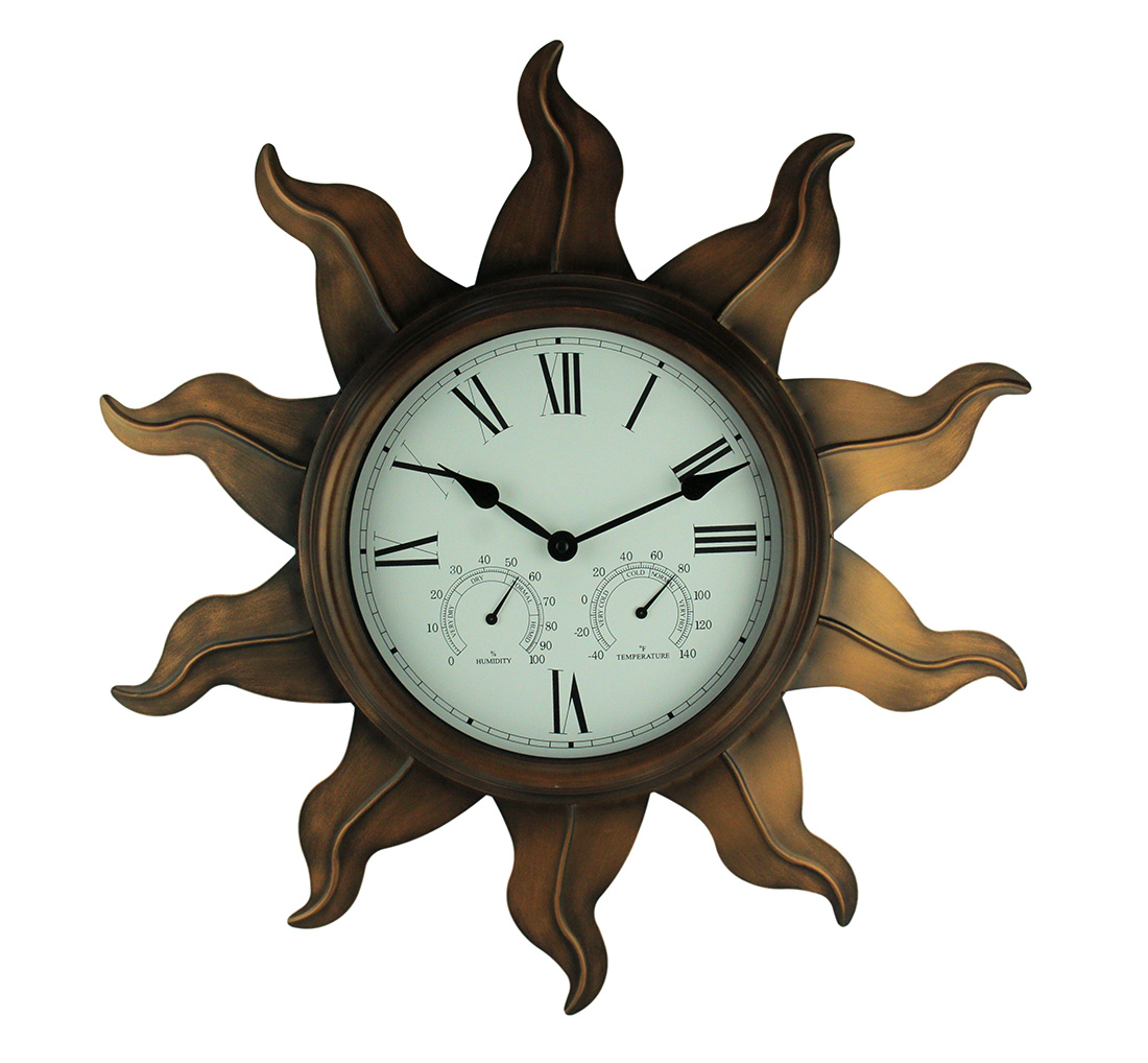 Ashton Sutton Oversized 24'' Indoor / Outdoor Wall Clock