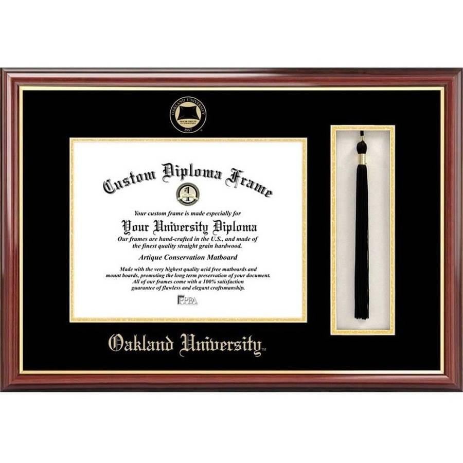 "Oakland University 8.5"" x 11"" Tassel Box and Diploma Frame"