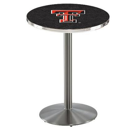 Texas Tech Pub Table - NCAA Pub Table by Holland Bar Stool, Stainless - Texas Tech, 36'' - L214