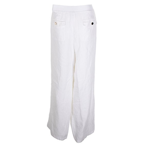 9072b9a9932 JM Collection - Jm Collection Plus Size White Drawstring-Waist Linen ...