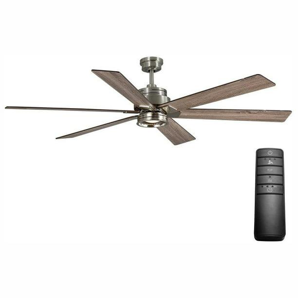 Home Decorators Statewood 70 In Led Brushed Nickel Ceiling Fan Light Kit Remote Walmart Com Walmart Com