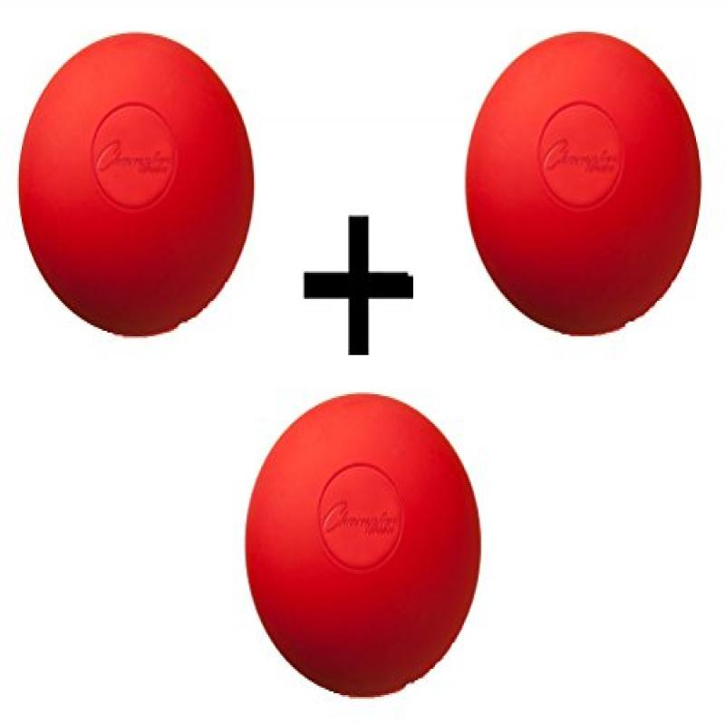 Three Red Lacrosse Balls - NCAA NFHS Certified