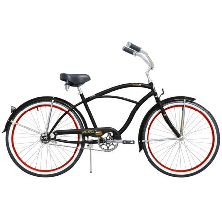 Beach Cruiser in Black and Red