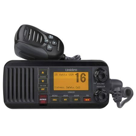Uniden 25 Watt Full-Featured Fixed Mount VHF Marine Radio, White