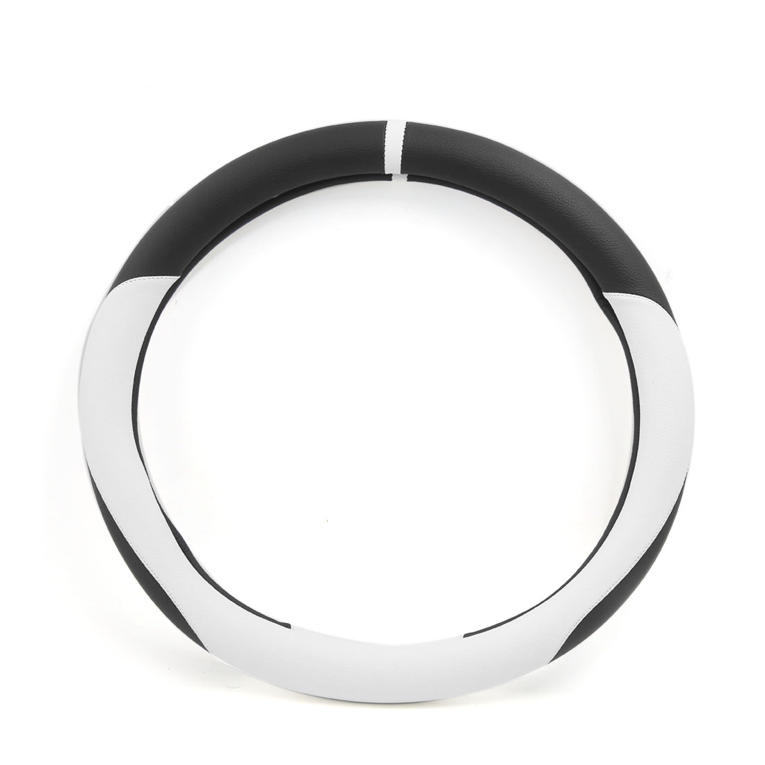 White Black Odorless Anti-slip Cover Wrap for 36cm Dia Truck Car Steering Wheel - image 2 of 2